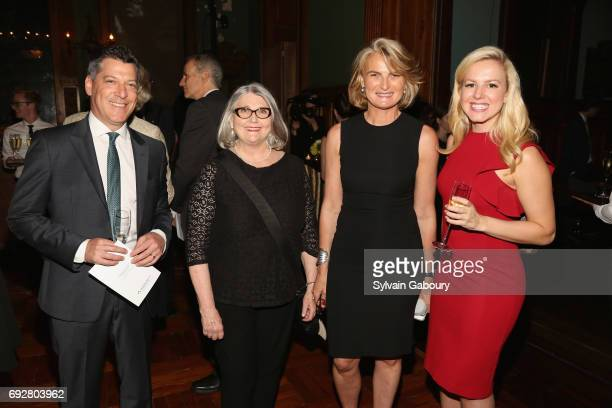 Scott Wapner Michelle Celarier Olivia Flatto and Julia La Roche attend The Pershing Square Foundation 10th Anniversary Celebration at Park Avenue...