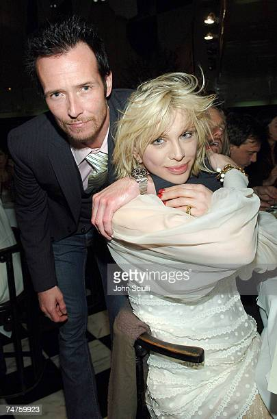Scott Weiland and Courtney Love at the Mr Chow in Beverly Hills California