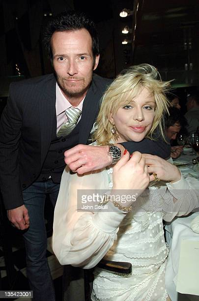 Scott Weiland and Courtney Love during Davis Factor Dean Factor Michael Baruch and Paul DeArmas LA Fashion Week KickOff Dinner at Mr Chow in Beverly...
