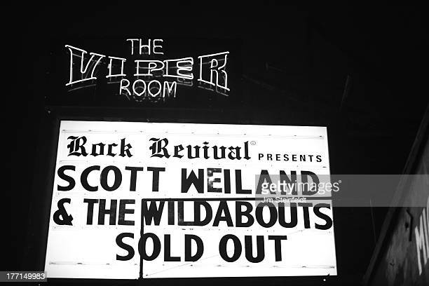 Scott Weiland and The Wildabouts marquee at the Viper Room during the Sunset Strip Music Festival in Los Angeles California on August 2 2013