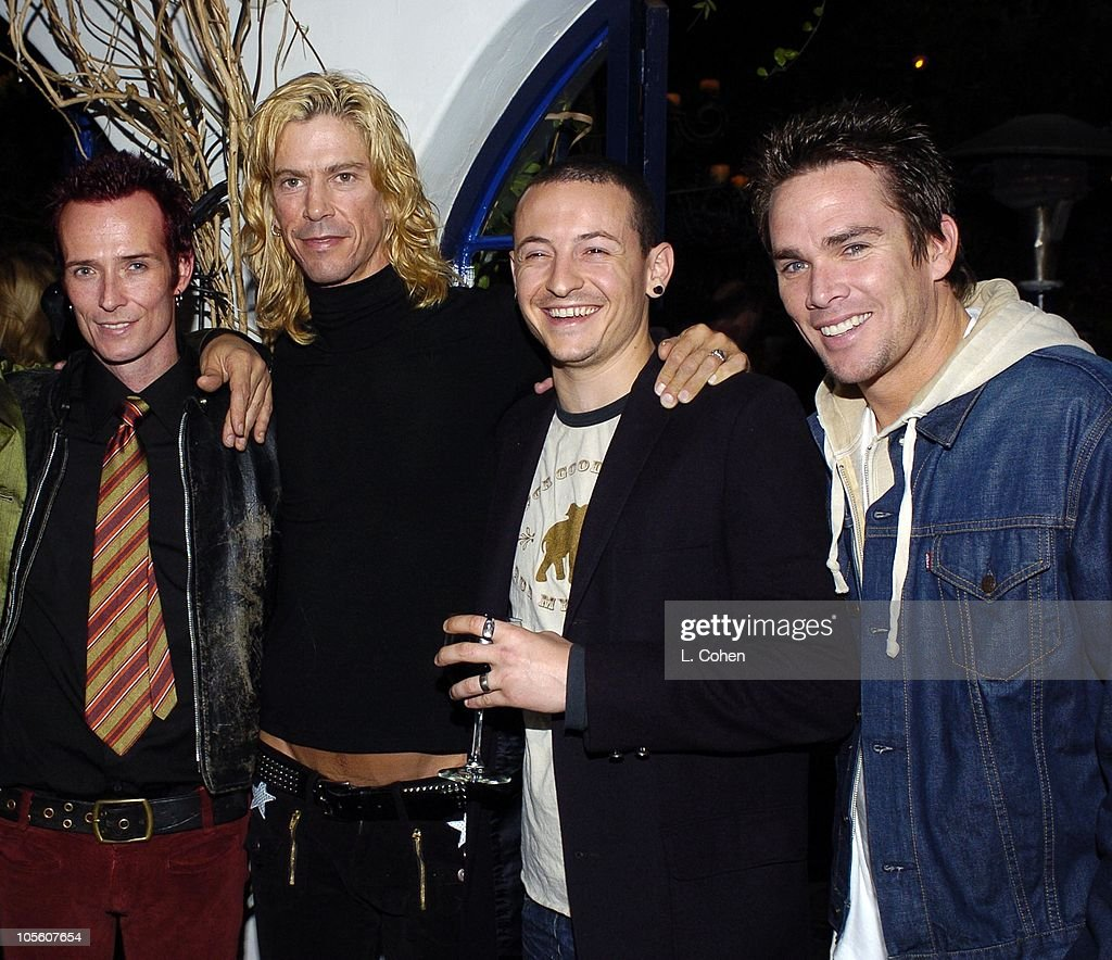 Scott Weiland, Duff McKagan, Chester Bennington and Mark McGrath. Scott Weiland of Velvet Revolver and guests celebrate his birthday at a surprise party thrown by wife Mary Weiland The party was held in the midst of the band's U.S. concert tour in support of their platinum Contraband album.