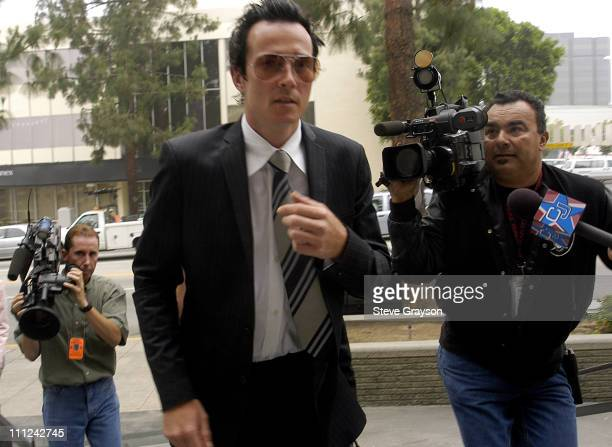 Scott Weiland during Scott Weiland of The Stone Temple Pilots Arraigned on Drug Charges at Burbank Superior Court in Burbank California United States