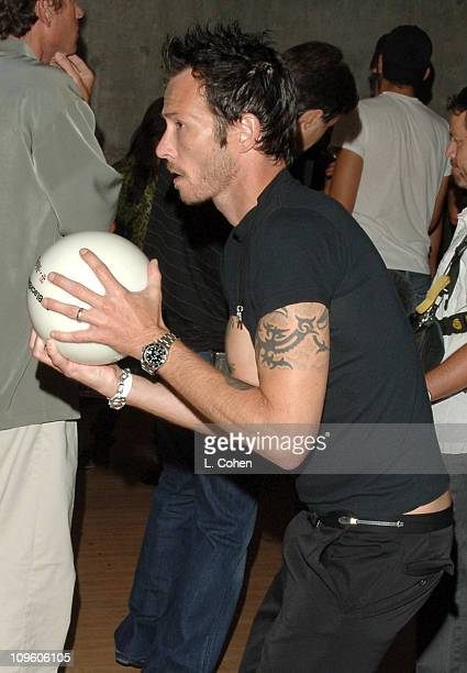 Scott Weiland during TMobile Launches The New BlackBerry Pearl with a Night of Bowling for Charity Inside at Lucky Strike Lanes in Los Angeles...