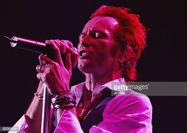 Scott Weiland of band Velvet Revolver perfoms on stage on one of their final London dates of their UK tour at the Carling Apollo Hammersmith on...