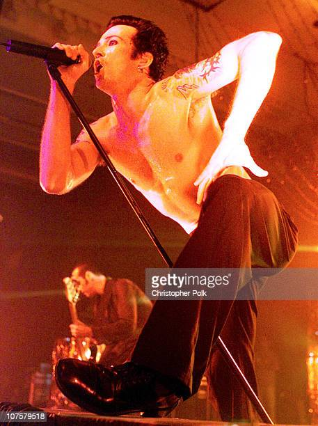 Scott Weiland of Stone Temple Pilots during Stone Temple Pilots performs at Trump Marina in Atlantic City NJ United States