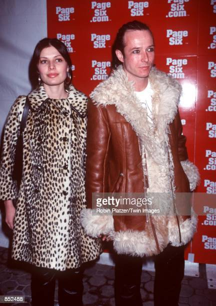 Scott Weiland of Stone Temple Pilots with fiancee Mary Forsberg at Guastavino's for the launch party of PageSixcom a web site devoted to fashion...