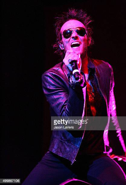 Scott Weiland of Velvet Revolver performs at the Gibson Amphitheater on December 12 2007 in Los Angeles California