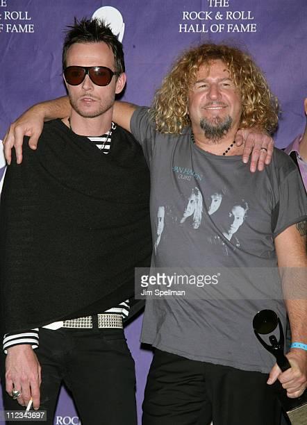 Scott Weiland of Velvet Revolver presenter and Sammy Hagar of Van Halen inductee