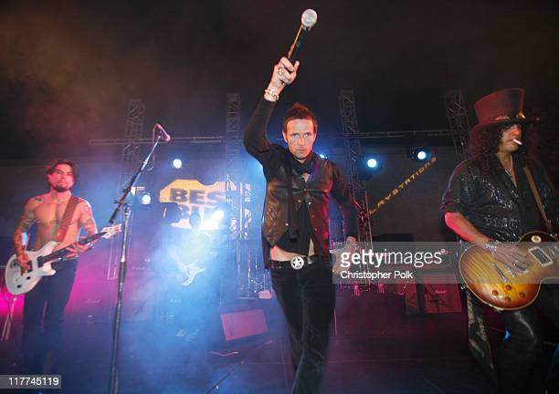 Scott Weiland performs with Camp Freddy during Best Buy Celebrates the Launch of the New Playstation 3 Inside at Best Buy in West Hollywood...
