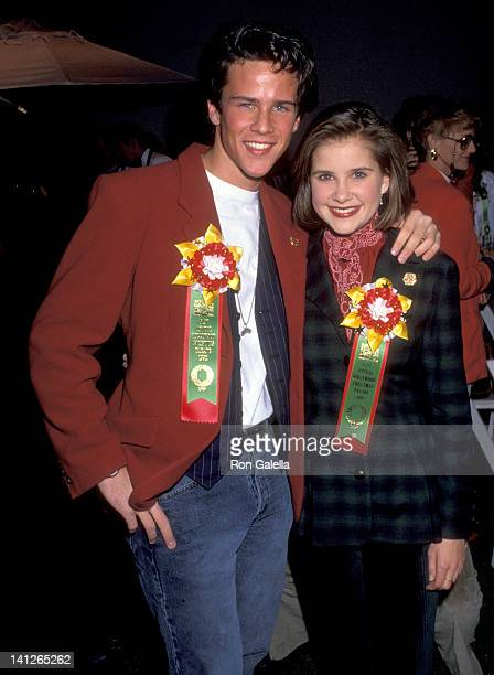 Scott Weinger and Kellie Martin at the 61st Annual Hollywood Christmas Parade Green RoomKTLA Studios Hollywood