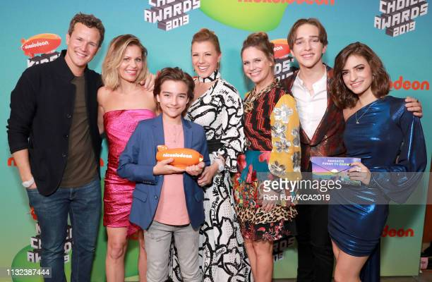 Scott Weinger Candace Cameron Bure Elias Harger Jodie Sweetin Andrea Barber Michael Campion and Soni Nicole Bringas attend Nickelodeon's 2019 Kids'...