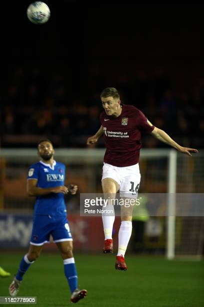 Scott Wharton of Northampton Town in action during the Sky Bet League Two match between Carlisle United and Northampton Town at Brunton Park on...