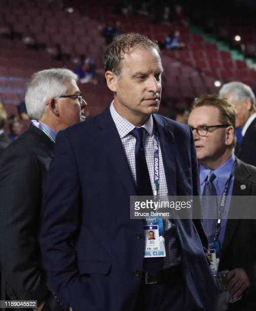 Scott White of the Dallas Stars attends the 2019 NHL Draft at the Rogers Arena on June 22 2019 in Vancouver Canada