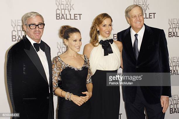 Scott Whitman Sarah Jessica Parker Julia Koch and David Koch attend NEW YORK CITY BALLET 2008 Opening Night Cocktail Reception at David H Koch...