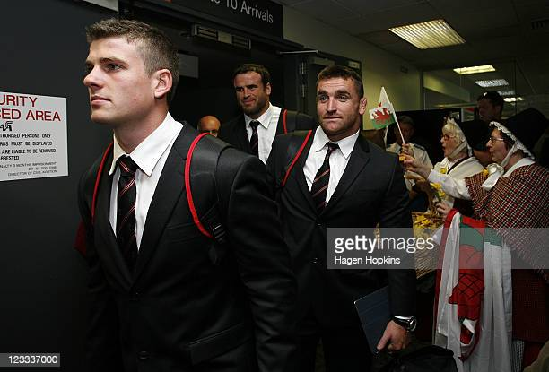 Scott Williams of the Welsh IRB Rugby World Cup 2011 team arrives at Wellington Airport on September 2 2011 in Wellington New Zealand