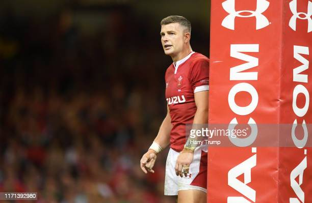 Scott Williams of Wales during the International Match between Wales and Ireland at the Principality Stadium on August 31 2019 in Cardiff Wales
