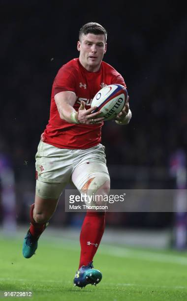 Scott Williams of Wales in action during the NatWest Six Nations round two match between England and Wales at Twickenham Stadium on February 10 2018...