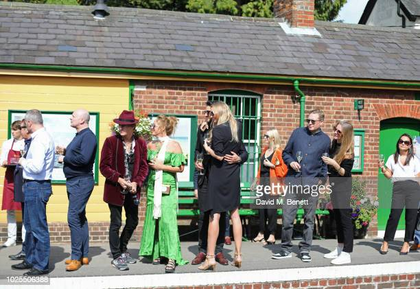 Scott Wimsett Alice Temperley Joseph Bates Jodie Kidd Edward Grant and Chloe Delevingne attend KRUG Encounters Tracks on Tracks curated by Jools...