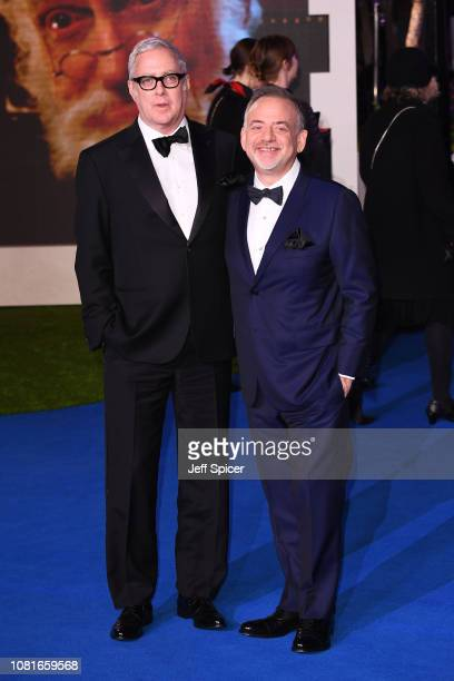 Scott Wittman and Marc Shaiman attend the European Premiere of 'Mary Poppins Returns' at Royal Albert Hall on December 12 2018 in London England