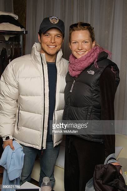 Scott Wolf and Kelley Limp attend Shutterfly Panasonic Hospitality Suite at Marquee Hospitality Lounge on January 24 2005 in Park City Utah