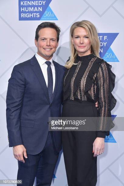 Scott Wolf and Kelley Limp attend the 2019 Robert F Kennedy Human Rights Ripple Of Hope Awards on December 12 2018 in New York City