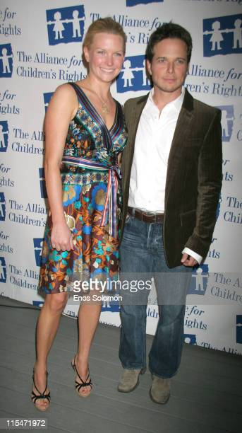 Scott Wolf and wife Kelley Limp during Dinner With Friends Cocktail Party Benefiting The Alliance For Children's Rights Foster Child Mentoring...