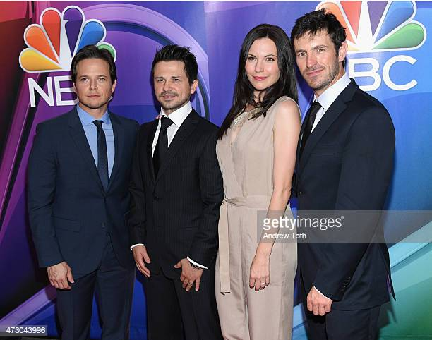Scott Wolf Freddy Rodriguez Jill Flint and Eoin Macken attend the 2015 NBC Upfront Presentation Red Carpet Event at Radio City Music Hall on May 11...