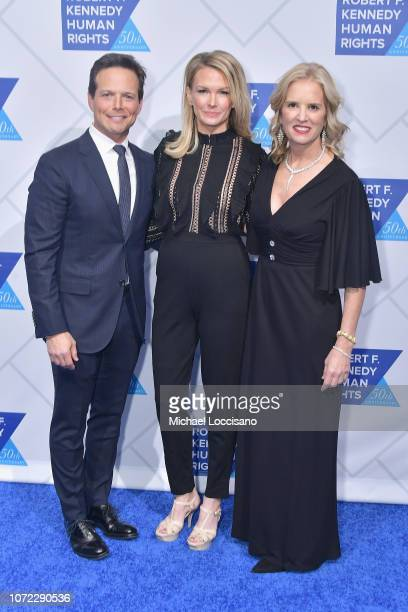 Scott Wolf Kelley Limp and Kerry Kennedy attend the 2019 Robert F Kennedy Human Rights Ripple Of Hope Awards on December 12 2018 in New York City