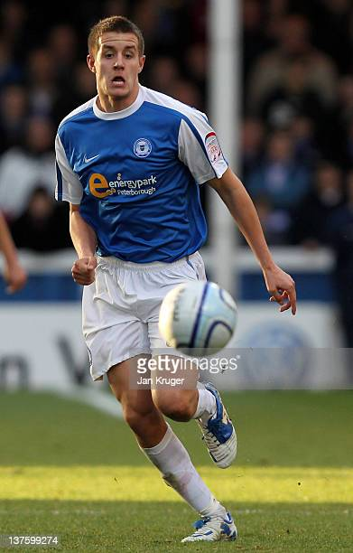 Scott Wootton of Peterborough in action during the npower Championship match between Peterborough United and Brighton Hove Albion at London Road...