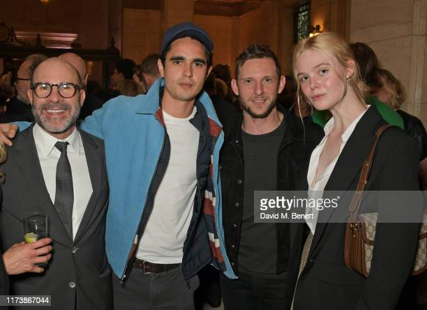 Scott Z Burns Max Minghella Jamie Bell and Elle Fanning attend The Academy Of Motion Pictures Arts And Sciences 2019 New Members Party during the...