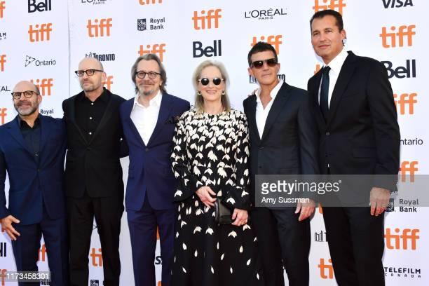 Scott Z Burns Steven Soderbergh Gary Oldman Meryl Streep Antonio Banderas and guest attend The Laundromat premiere during the 2019 Toronto...