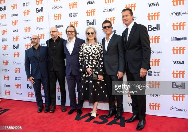 Scott Z Burns Steven Soderbergh Gary Oldman Meryls Streep and Antonio Banderas and Scott Stuber attend the North American Premiere of 'The...