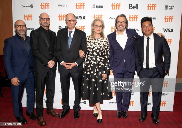 Scott Z Burns Steven Soderbergh Jake Bernstein Meryl Streep Gary Oldman and Lawrence Grey attend the North American Premiere of 'The Laundromat' at...