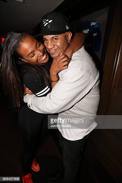 Scottie Beam and Lenny S attend Mack Wilds' Viewing Of The Breaks at 40 / 40 Club on January 4 in New York City