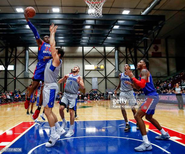 Scottie Lindsey of the Grand Rapids Drive shoots against the Texas Legends on December 12 2018 at DeltaPlex Arena in Grand Rapids Michigan NOTE TO...