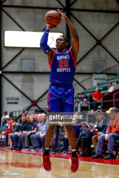 Scottie Lindsey of the Grand Rapids Drive shoots the ball against the Texas Legends on December 12 2018 at DeltaPlex Arena in Grand Rapids Michigan...