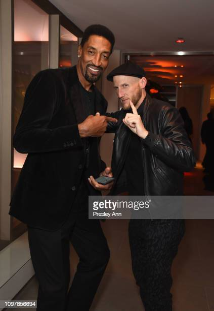 Scottie Pippen and guest during Republic Records Grammy after party at Spring Place Beverly Hills on February 10 2019 in Beverly Hills California