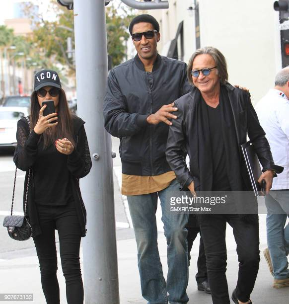 Scottie Pippen and Mohammed Hadid are seen on January 19 2018 in Los Angeles CA