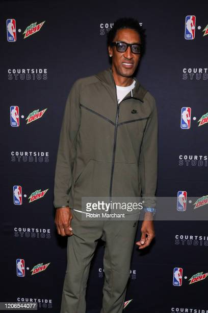 Scottie Pippen at MTN DEW Courtside Studios during NBA AllStar 2020 at Morgan's on Fulton on February 15 2020 in Chicago Illinois