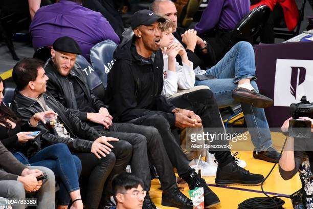 Scottie Pippen attends a basketball game between the Los Angeles Lakers and the Chicago Bulls at Staples Center on January 15 2019 in Los Angeles...