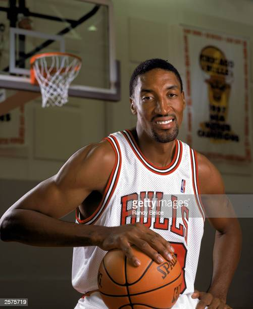 Scottie Pippen of the Chicago Bulls poses for a portrait during NBA Media Day on October 2 2003 in Chicago Illinois NOTE TO USER User expressly...