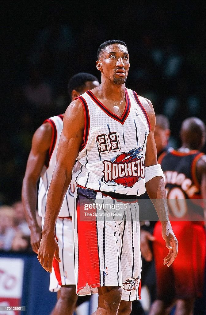2ec39d295 Scottie Pippen of the Houston Rockets during the game against the ...