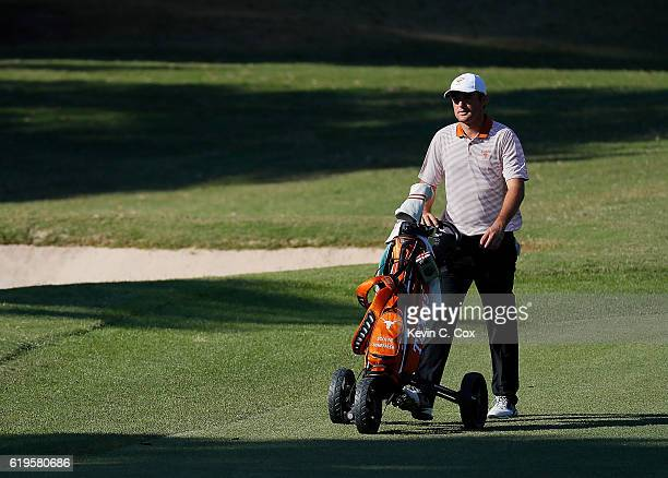 Scottie Scheffler of Texas walks the 13th hole during day 1 of the 2016 East Lake Cup at East Lake Golf Club on October 31 2016 in Atlanta Georgia