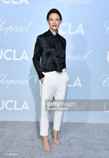 Scottie Thompson arrives at the 2019 Hollywood For Science Gala at Private Residence on February 21 2019 in Los Angeles California