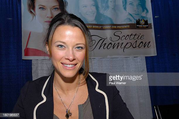Scottie Thompson from NCIS attends Wizard World Chicago Comic Con 2012 at Donald E Stephens Convention Center on August 11 2012 in Rosemont Illinois