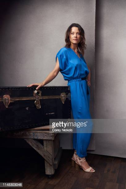 Scottie Thompson of the film 'Crown Vic' poses for a portrait during the 2019 Tribeca Film Festival at Spring Studio on April 26 2019 in New York City