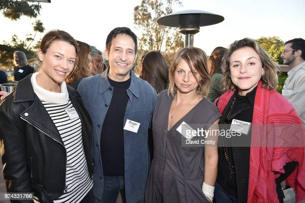 Scottie Thompson Roger Wolfson Vanessa Wruble and Penelope Chester attend A Conversation with the Center for Reproductive Rights at Private Residence...