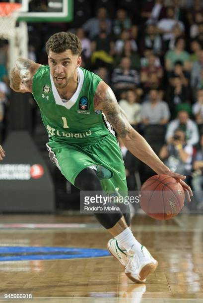 Scottie Wilbekin #1 of Darussafaka Istanbul competes in action during the 7DAYS EuroCup Basketball Finals game two between Darussafaka Istanbul v...