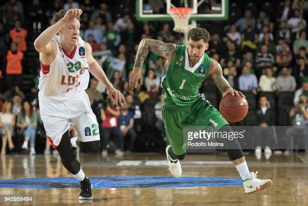 Scottie Wilbekin #1 of Darussafaka Istanbul in action during the 7DAYS EuroCup Basketball Finals game two between Darussafaka Istanbul v Lokomotiv...