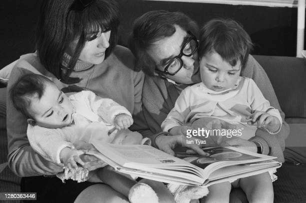 Scottish actor and comedian Ronnie Corbett with his wife, actress Anne Hart, and daughters Sophie and Emma, January 1969.